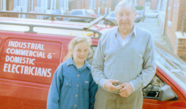 Lisa Evans and Grandad